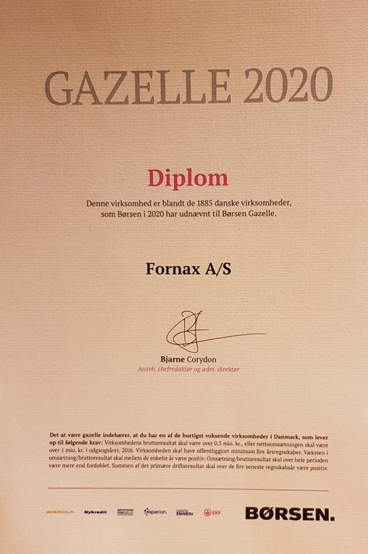Gazelle prisen 2020 til Fornax, Silkeborg