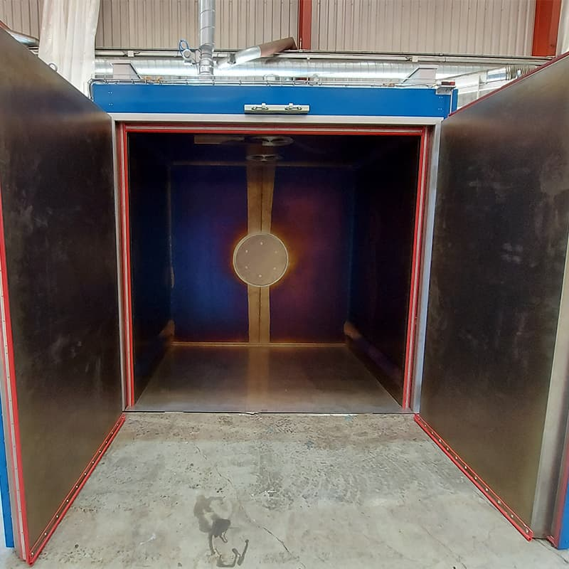 This Fornax T 7000 EN1539 oven is for curing of stators impregnated with solvent-based varnish.